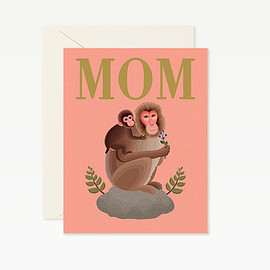 Clap Clap - Mom and Baby Monkey Happy Mother's Day Card