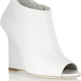 BURBERRY PRORSUM - Textured-leather wedge boots