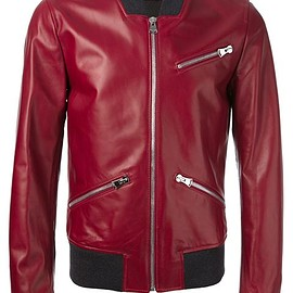 Dolce&Gabbana - Dolce&Gabbana   BULLHIDE BOMBER JACKET - Leather outerwear - Winter 2015