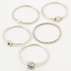 ENFOLD - thin ring set