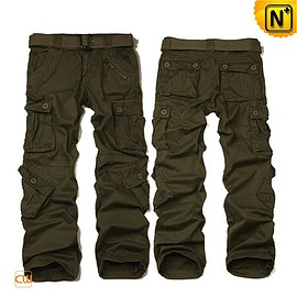 cwmalls - Detroit Army Green Cargo Pants Work Trousers CW100008