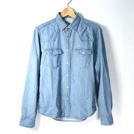 KITSUNE - DENIM WESTERN SHIRT