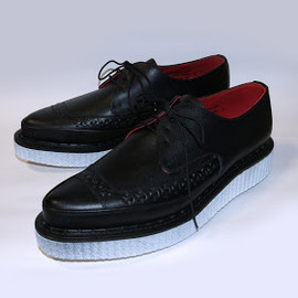 PEEL&LIFT - george cox 3705 painted creeper color : black with white paint sole material : oiled leather