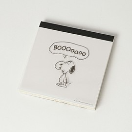 SNOOPY - スクエアメモBOO