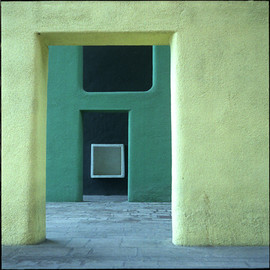 Le Corbusier - Inside a Chandigarh Building, Le Corbusier Green Range of Color