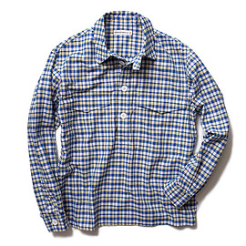 HEAD PORTER PLUS - CHECK PULLOVER SHIRT YELLOW