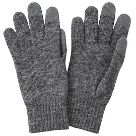 Muji - Wool Mix Brushed Touchscreen Gloves