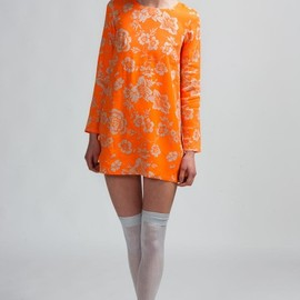 Shakuhachi - Shakuhachi Fluro Brocade Shift Dress