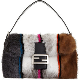 FENDI - Colorblock Mink Baguette Bag