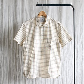 YAECA - Pullover Shirt - short sleeve #natural check