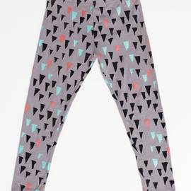 Thief&Bandit - Stalactite Leggings in Mint, Rust and Black on Grey
