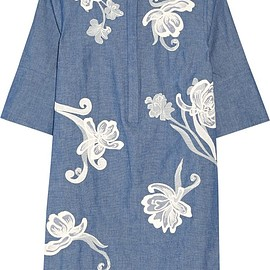 3.1 Phillip Lim - Embroidered cotton-chambray shirt dress