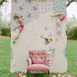 Pretty idea for a photo backdrop