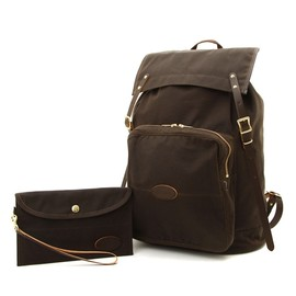 "KICHIZO by Porter Classic - ""KICHIZO OIL COTTON CANVAS"" DAYPACK"