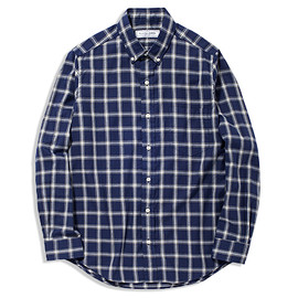 UNIVERSAL PRODUCTS - CHECK BUTTON DOWN SHIRTS[NAVY]