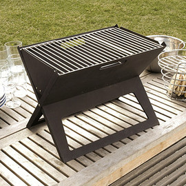 Fire Sense - Foldable Notebook Charcoal Grill