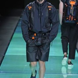 LOUIS VUITTON - Louis Vuitton Men's RTW Spring 2013 navy and a touch of orange  Photo by Giovanni Giannoni