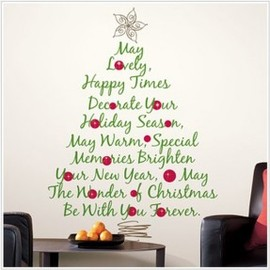 Roommates - Christmas Tree Quote Giant Wall Decal