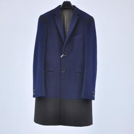 kolor - Angora Wool Beaver Cloth Chesterfield Coat  /13WCM-C02102