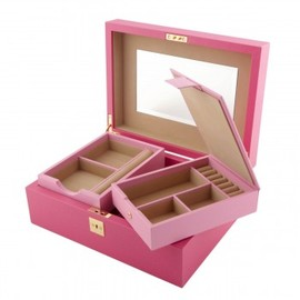 SMYTHSON - Jewellery Box with Travel Tray, Magenta Collection - Smythson - Jewellery & Watch Cases