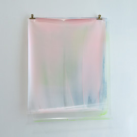 Matt McClune Hung - Painting (Pink, Blue, Green), 2013