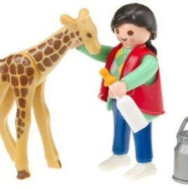 PLAYMOBIL - Playmobil Baby Giraffe with Zookeeper