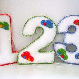 Luulla - Baby Boy's Car Number Decorations