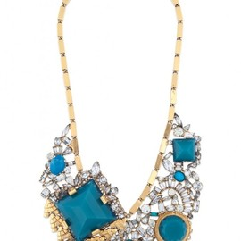ERICKSON BEAMON - turquoise blue bib necklace