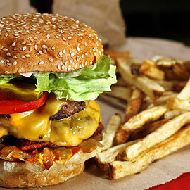 Five Guys Burgers - Bacon Cheeseburger