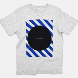 Saturdays Surf NYC - Circle Stripe Square T-Shirt