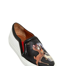 GIVENCHY - BAMBI & FEMALE FORM LEATHER SNEAKERS