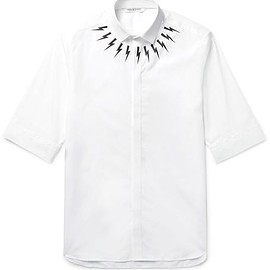 Neil Barrett - Slim-Fit Printed Cotton-Poplin Shirt