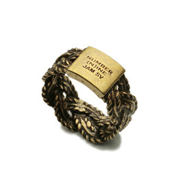 JAM HOME MADE × NUMBER(N)INE - BRAIDING RING -ANTIQUE-