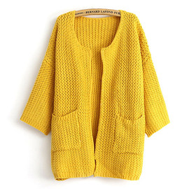 Leisure Sweet Candy Color Loose Fitting Cardigan