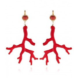 Kenneth Jay Lane - Red Coral Earrings