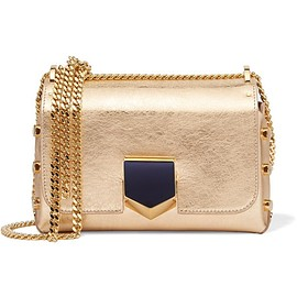 Jimmy Choo - Lockett small metallic textured-leather shoulder bag