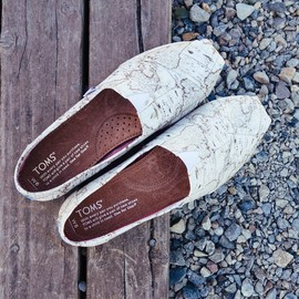 TOMS - TOMS Classic Voyage Map Slip-On