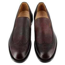 Yuketen - 701-4606 Brown Wingtip Slip On
