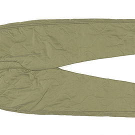 ENGINEERED GARMENTS - E-1 Over Pant-Quilted Activecloth-Olive Hourglass