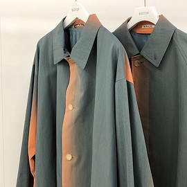 AURALEE - WASHED FINX GRADATION DYED LONG COAT