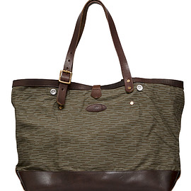 Upscape Audience, Audience, VASCO - デッドストックレインカモテント生地×Leather Travel Tote Bag[AUD5055]