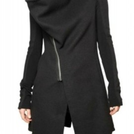 Rick Owens - RING COLLAR DOUBLE CASHMERE COAT