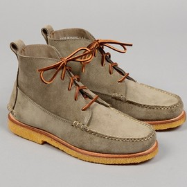 "HICKOREE'S - ""The Grey Boot"" Suede Moccasin Boot"
