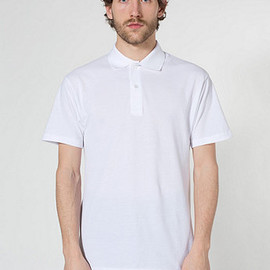 American Apparel - Cotton Pique Tennis Shirt