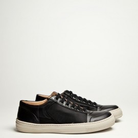 Dries Van Noten -  Leather / Nylon Sneaker Black
