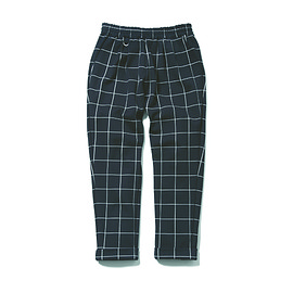 uniform experiment - WINDOW PANE 4 TUCK ANKLE CUT EASY PANT