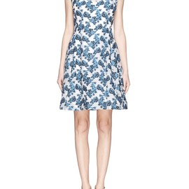 PRABAL GURUNG - Rose embroidery dress