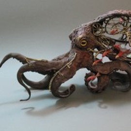 Ellen Jewett - Octopus with fish by *creaturesfromel
