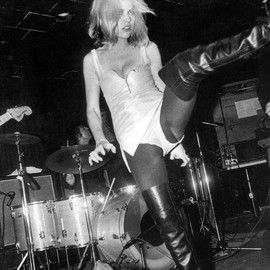 Blondie - Debbie Harry with Blondie on stage at Max's Kansas City, 1970s.