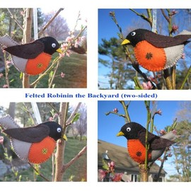 Luulla - Felted Birds - Robin (FR1) Newly-made for Spring